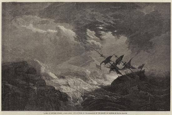 edward-duncan-a-ship-in-distress-burning-a-blue-light