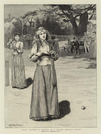 edward-frederick-brewtnall-well-played-a-sketch-at-a-ladies-cricket-match