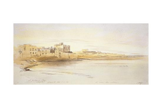 edward-lear-st-julian-s-bay-malta-1866-pen-and-brown-ink-with-graphite-and-watercolours-on-off-white-paper