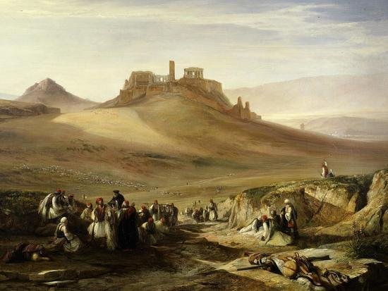 edward-lear-the-acropolis-athens-greece-view-from-east-1852