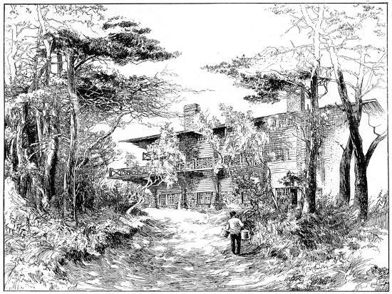 edward-william-charlton-the-log-house-idaho-near-ringwood-hampshire-1898