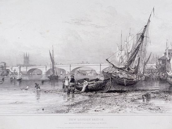 edward-william-cooke-london-bridge-old-and-new-london-1833