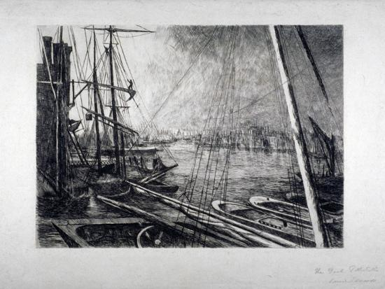edwin-edwards-pool-of-london-from-rotherhithe-with-ships-in-the-foreground-c1890