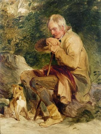 edwin-henry-landseer-an-old-man-and-his-dog-seated-by-a-road-side