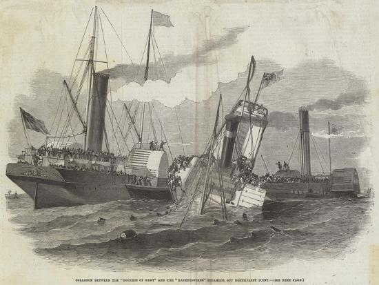 edwin-weedon-collision-between-the-duchess-of-kent-and-the-ravensbourne-steamers-off-northfleet-point