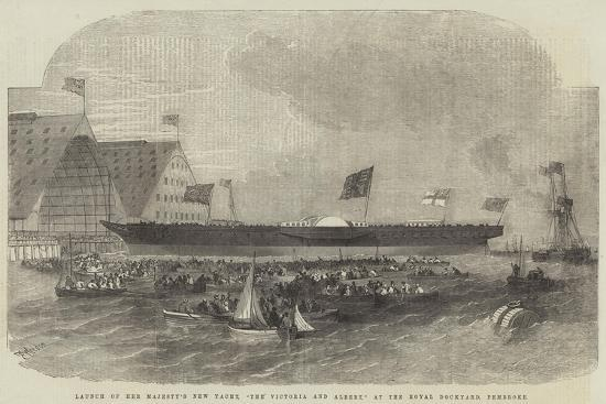 edwin-weedon-launch-of-her-majesty-s-new-yacht-the-victoria-and-albert-at-the-royal-dockyard-pembroke