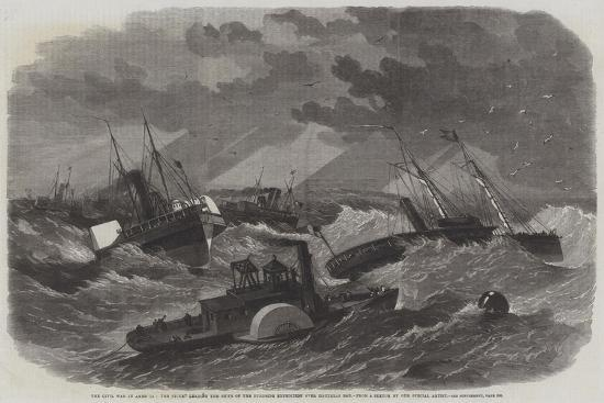 edwin-weedon-the-civil-war-in-america-the-picket-leading-the-ships-of-the-burnside-expedition-over-hatteras-bar