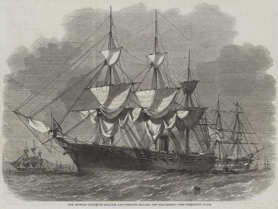 edwin-weedon-the-russian-corvette-bogatir-and-frigate-osliaba-off-gravesend