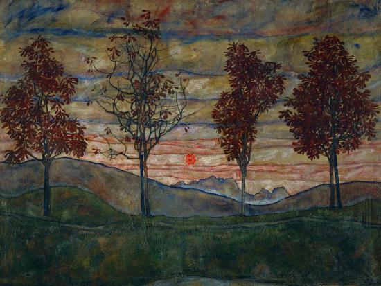 egon-schiele-four-trees-1917