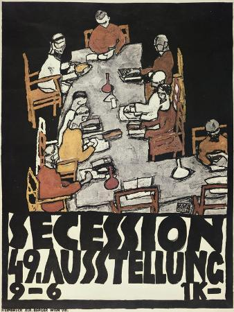 egon-schiele-poster-for-the-vienna-secession-49th-exhibition-die-freunde-1918