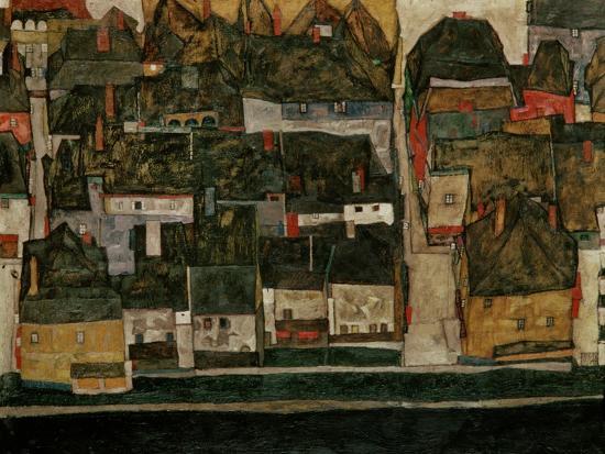 egon-schiele-the-small-city-iv-krumau-on-the-moldau-1914