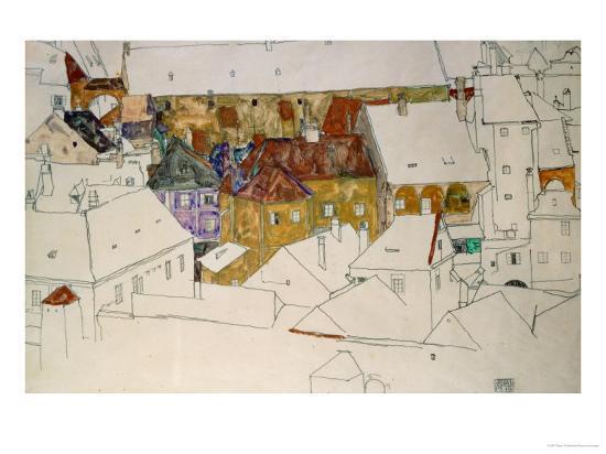 egon-schiele-the-yellow-town-1914
