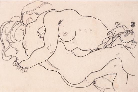 egon-schiele-two-embracing-female-nudes-1918
