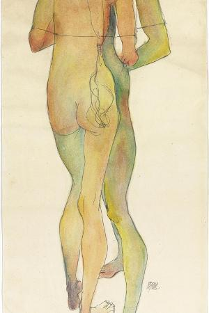 egon-schiele-two-standing-nudes-1913
