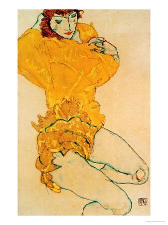 egon-schiele-woman-undressing-1914