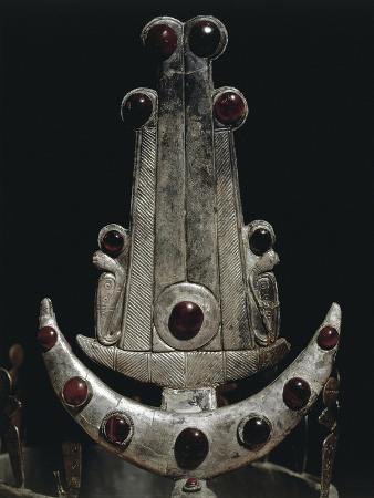 egypt-ballana-and-qustul-detail-of-diadem-with-silver-and-semi-precious-stones