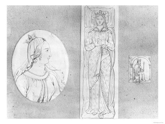 eleanor-of-aquitaine-circa-1122-1204-portrait-in-profile-recumbant-and-on-her-throne