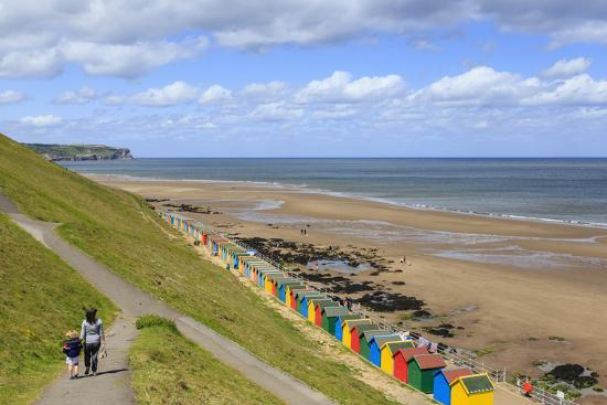 eleanor-scriven-elevated-view-of-colourful-beach-huts-on-west-cliff-beach