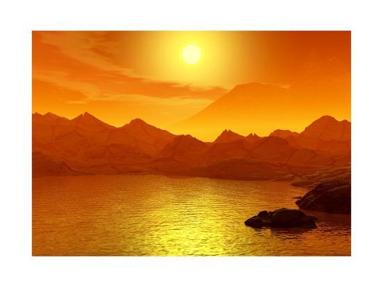 elen-studio-sunset-on-a-sea-3d-scene