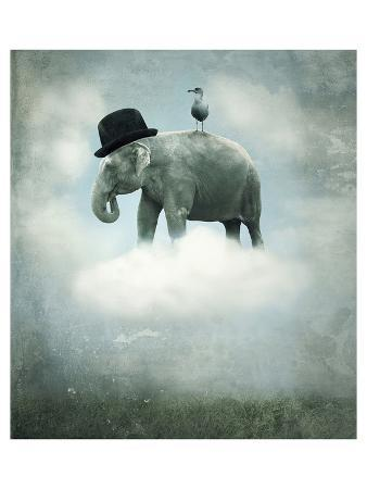 elephant-on-cloud-with-hat