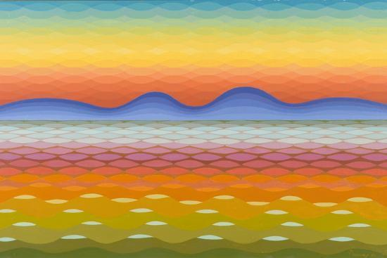 emil-parrag-dusk-at-lake-balaton-1991