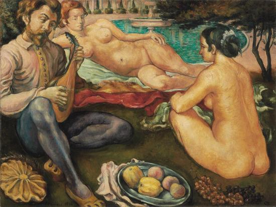 emile-bernard-court-of-love-cour-d-amour-1890