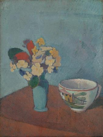 emile-bernard-vase-with-flowers-and-cup-1887