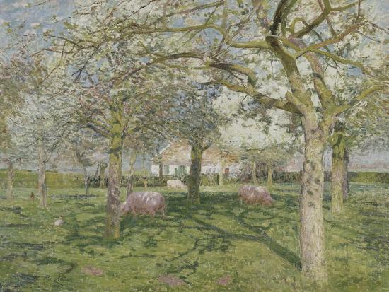emile-claus-le-verger-au-printemps