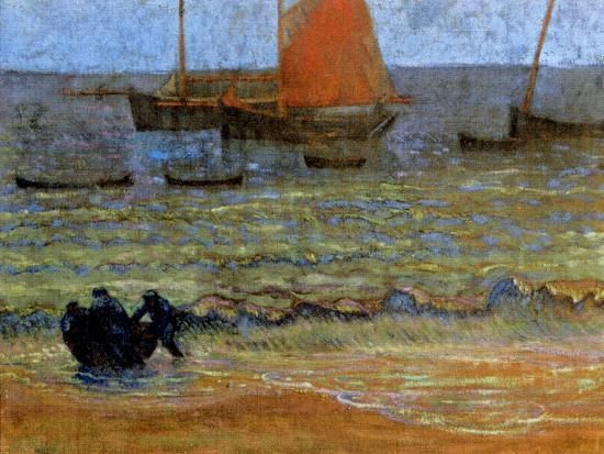 emile-jourdan-sea-shore-brittany-c-1890-92