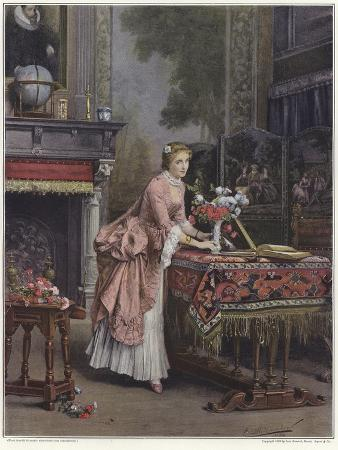 emile-pierre-metzmacher-a-woman-placing-a-vase-of-flowers-on-a-table