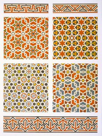 emile-prisse-d-avennes-cairo-geometric-mural-decoration-15th-and-16th-century-print