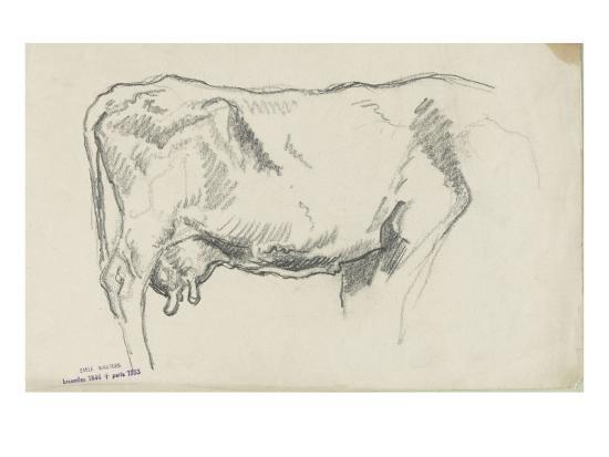 emile-wauters-etude-de-vache