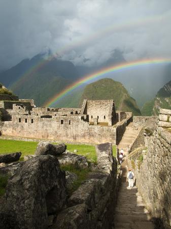 emily-riddell-rainbow-over-incan-ruins-of-machu-picchu