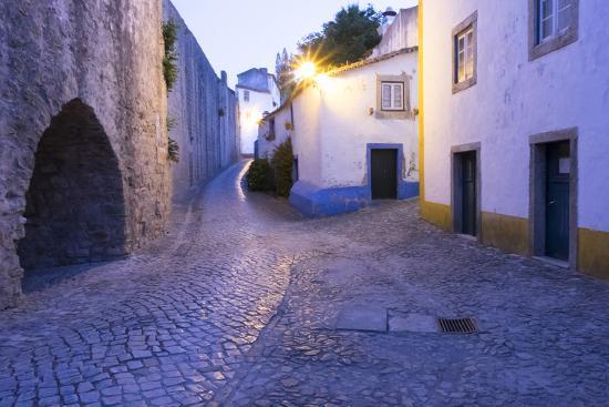 emily-wilson-portugal-obidos-leira-district-cobblestone-walkways-at-sunset