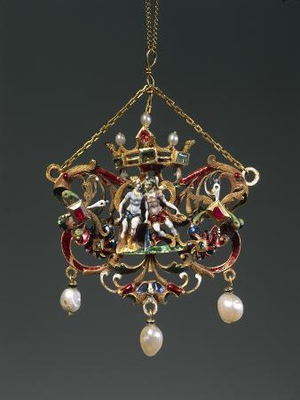 enameled-gold-pendant-depicting-venus-and-mars-set-with-pearls-rubies-and-emeralds