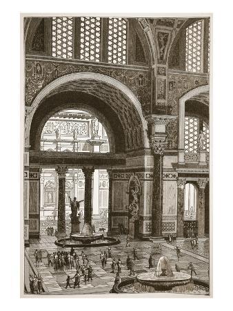 english-baths-of-caracalla-restored-litho