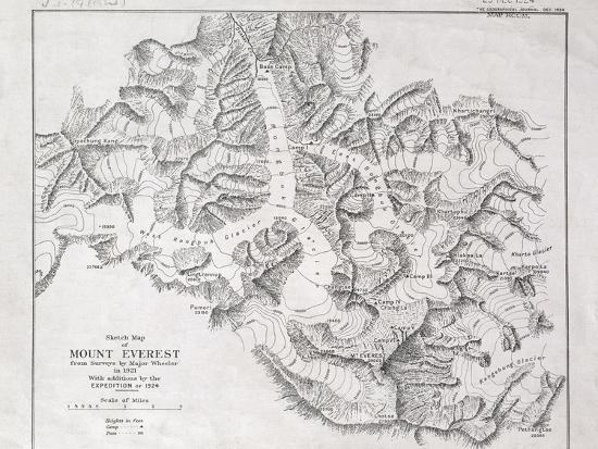 english-school-sketch-map-of-mount-everest-from-surveys-by-major-wheeler-in-1921-with-addi