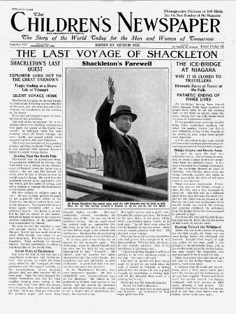 english-school-the-last-voyage-of-shackleton-front-page-of-the-children-s-newspaper-february-1922