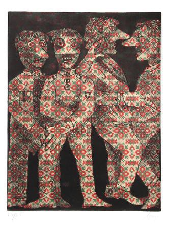 enrico-baj-untitled-four-dancing-figures