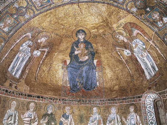 enthroned-virgin-with-archangels-and-apostles-mosaic-trieste-cathedral
