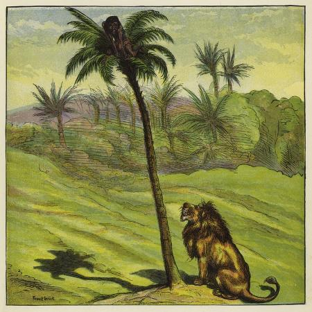 ernest-henry-griset-man-escaping-from-a-lion-by-climbing-a-tree