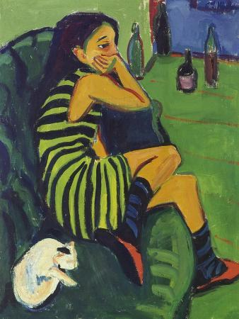 ernst-ludwig-kirchner-female-artist-1910