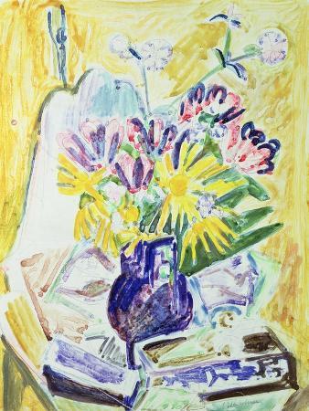 ernst-ludwig-kirchner-flowers-in-a-vase-1918-19