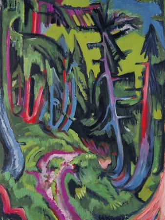 ernst-ludwig-kirchner-path-in-forest-in-the-mountains