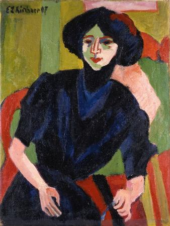 ernst-ludwig-kirchner-portrait-of-a-woman-1911