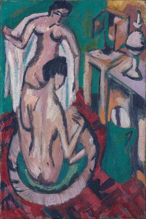 ernst-ludwig-kirchner-two-nudes-in-a-shallow-tub-c-1912-1913-1920