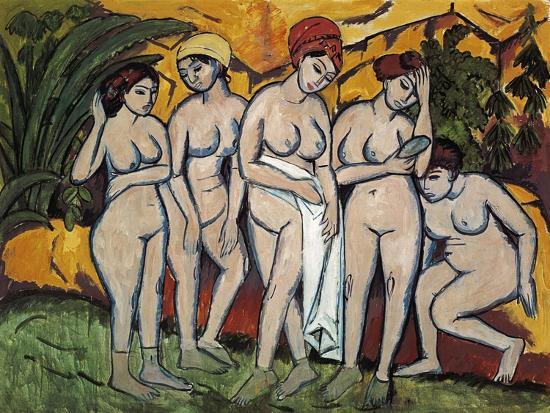 ernst-ludwig-kirchner-woman-bathing-1911