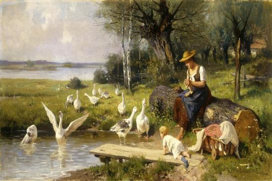 ernst-meissner-woman-and-geese