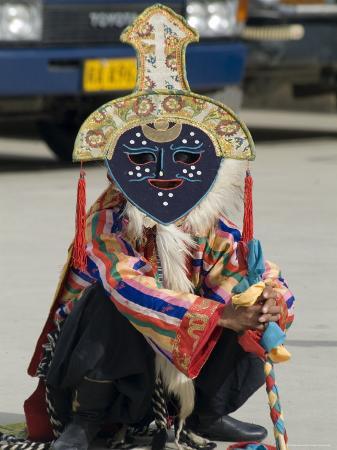 ethel-davies-dancer-in-traditional-garb-gyantse-tibet-china