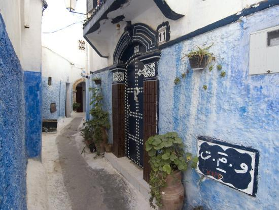 ethel-davies-route-in-the-kasbah-rabat-morocco-north-africa-africa